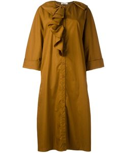 Nina Ricci | Ruffled Shirt Dress 38 Cotton