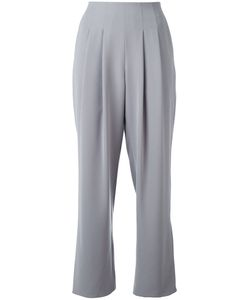 Armani Collezioni | Pleated Cropped Trousers 44 Polyester