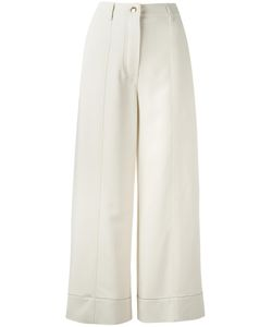 Sonia Rykiel | Wide Leg Cropped Trousers 38 Viscose/Spandex/Elastane