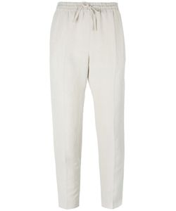 Joseph | Drawstring Cropped Trousers 34 Linen/Flax/Silk