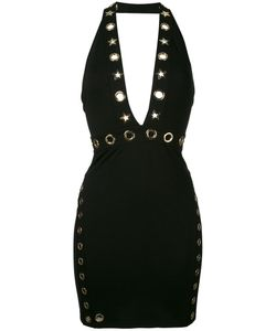 Philipp Plein | Eyelet Detail Halter Dress
