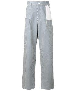 Diesel Black Gold | Wide Leg Striped Trousers Size 33