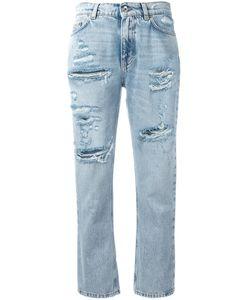 Dolce & Gabbana | Strawberry Embellished Cropped Jeans Size 40
