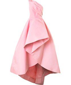 Monique Lhuillier   Вечернее Платье На Одно Плечо С Драпировками