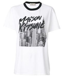 Maison Kitsune   Футболка С Принтом Логотипа