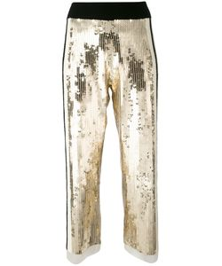 Aviù | Sequins Detail Cropped Pants 44 Polyamide/Cotton/Rubber