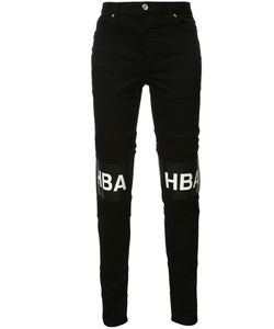 HOOD BY AIR | Printed Text Trousers 30 Cotton