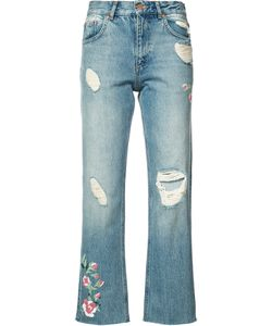 ANINE BING | Distressed Cropped Jeans
