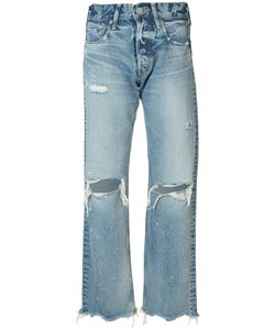 Moussy | Distressed High-Rise Jeans Size 31