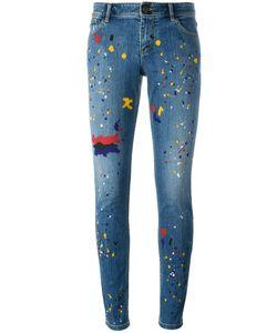 Alice + Olivia | Splatter Print Skinny Jeans 24 Cotton/Spandex/Elastane