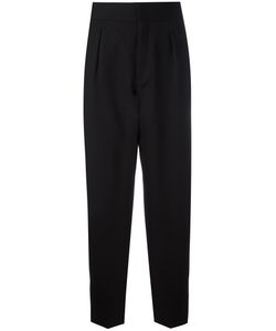 Saint Laurent | Tapered Flared Cuff Trousers Size 40 Cotton/Virgin