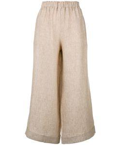 DANIELA GREGIS | Cropped Wide-Leg Trousers Linen/Flax