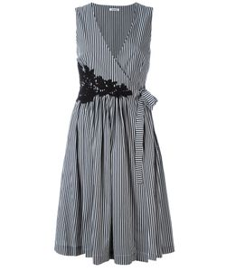 P.A.R.O.S.H. | P.A.R.O.S.H. Striped V-Neck Dress M
