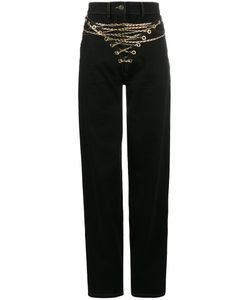 Y / PROJECT | Mid-Rise Jeans With Chain Front Women
