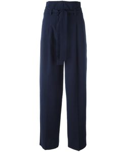 Erika Cavallini | Pleat Detail High-Rise Trousers 42 Cotton/Virgin