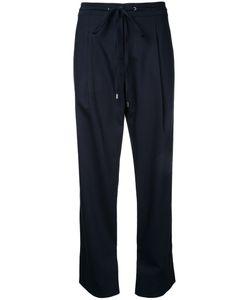 Jil Sander Navy | Drawstring Trousers 34 Wool/Polyester/Spandex/Elastane