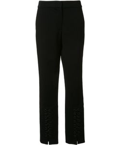 Yigal Azrouel | Lace Up Detail Slim Pants 4 Spandex/Elastane/Viscose
