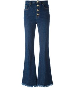 Sonia Rykiel | Frayed Ends Bootcut Jeans 36 Cotton/Spandex/Elastane