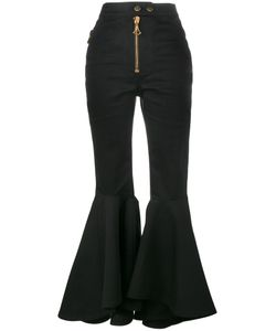 Ellery | Fla High Waisted Trousers 33 Cotton/Spandex/Elastane