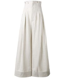 JACQUEMUS | Striped Palazzo Pants 36 Linen/Flax/Wool