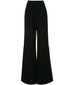 Alexis | Slit High-Waisted Trousers Small Acetate/Viscose