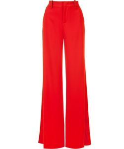 Alice + Olivia | Slit High-Waisted Trousers 4 Polyester/Spandex/Elastane