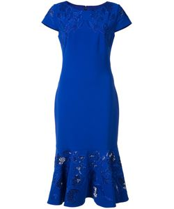 Marchesa Notte | Peplum Hem Dress 16 Polyester