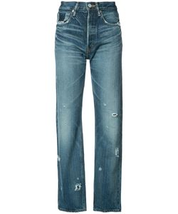 Moussy | High-Rise Cropped Jeans 26 Cotton