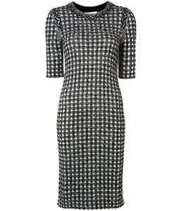 Sonia Rykiel | Gingham Plaid Tweed Dress Medium Cotton/Polyamide/Viscose/Virgin