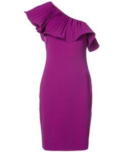 Badgley Mischka | Платье С Плиссировкой На Одно Плечо