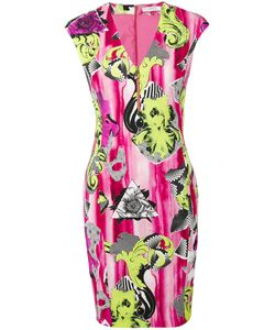 Versace Collection | V-Neck Printed Dress 48 Viscose/Spandex/Elastane/Polyester/Viscose