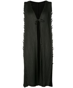 PLEATS PLEASE BY ISSEY MIYAKE   Tied Front Elongated Tank
