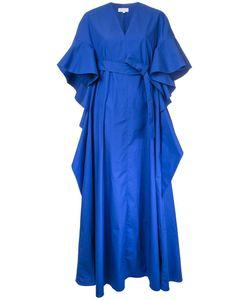 Delpozo | Ruffled Shortsleeves Fla Dress 36 Cotton