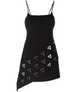 David Koma | Studded Triangles Fitted Dress 8 Acrylic/Spandex/Elastane/Viscose/Lyocell