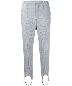 LE CIEL BLEU | Houndstooth Strap Detail Trousers Size