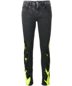 Filles A Papa | Flame Print Skinny Jeans