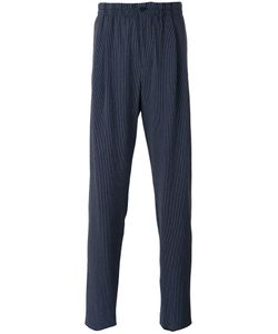 Giorgio Armani | Fantasia Striped Seersucker Trousers 54 Cotton/Spandex/Elastane/Virgin