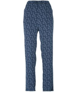 Woolrich | Printed Straight Trousers Small Viscose
