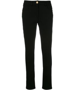 Class Roberto Cavalli | Studded Trim Pants 40 Spandex/Elastane/Viscose/Polyimide