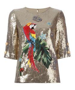 Dolce & Gabbana | Топ В Пайетках С Элементом Попугая