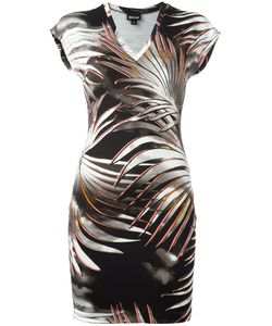 Just Cavalli | Leaves Print T-Shirt Dress 44 Viscose/Spandex/Elastane