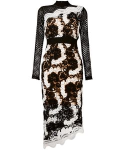 SELF-PORTRAIT   Asymmetric Lace Dress