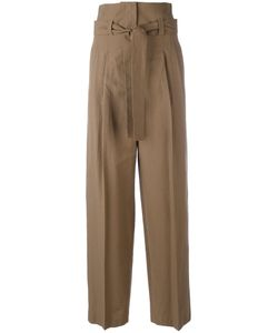 Erika Cavallini | Pleat High-Rise Trousers Size 40 Cotton/Virgin Wool
