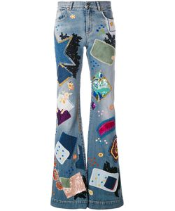 Roberto Cavalli | Patchwork Flared Jeans
