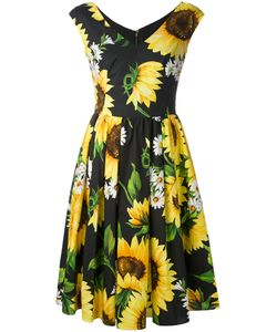 Dolce & Gabbana | Sunflower Pleated Dress