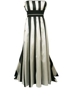 Carolina Herrera | Striped Bustier Ball Gown