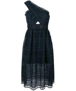 SELF-PORTRAIT | One-Shoulder Cut-Out Dress