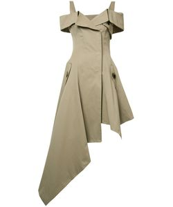 Monse   Asymmetric Pointy Dress 4 Cotton