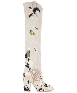 Laurence Dacade | Silas Denim Tropicale Boots 37.5 Leather/Cotton
