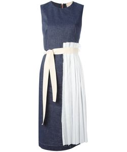Erika Cavallini | Pleated Trim Dress 48 Cotton/Linen/Flax/Polyester/Acetate